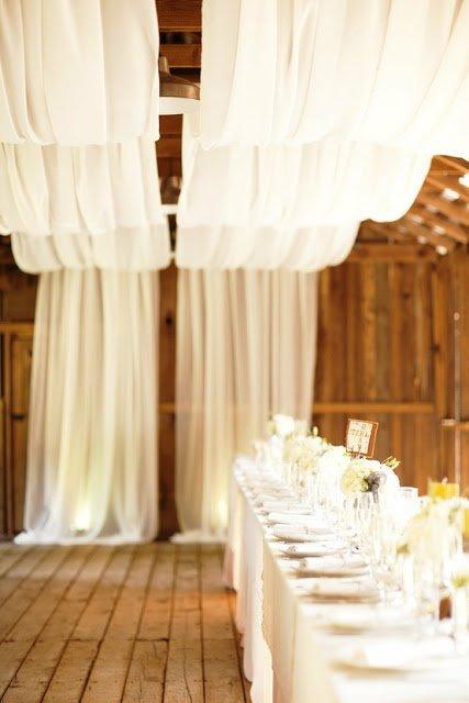 Love DIY – szalag és függöny dekorációk esküvőre